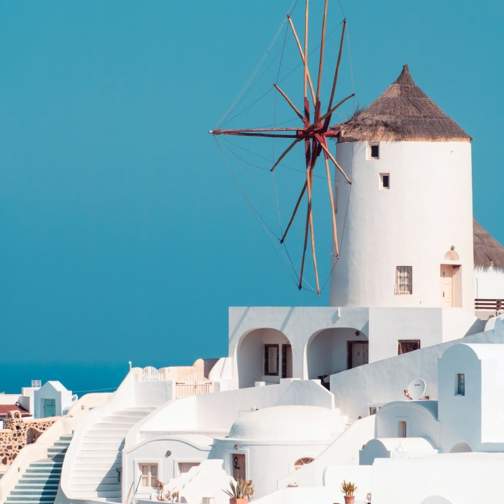 Holiday Santorini Itinerary Travel Tips Oia Windmill View