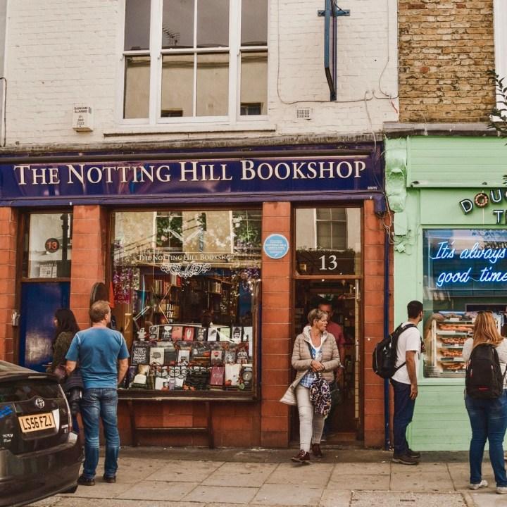 Holiday London Itinerary Travel Tips Days Notting Hill Bookshop Portobello Road