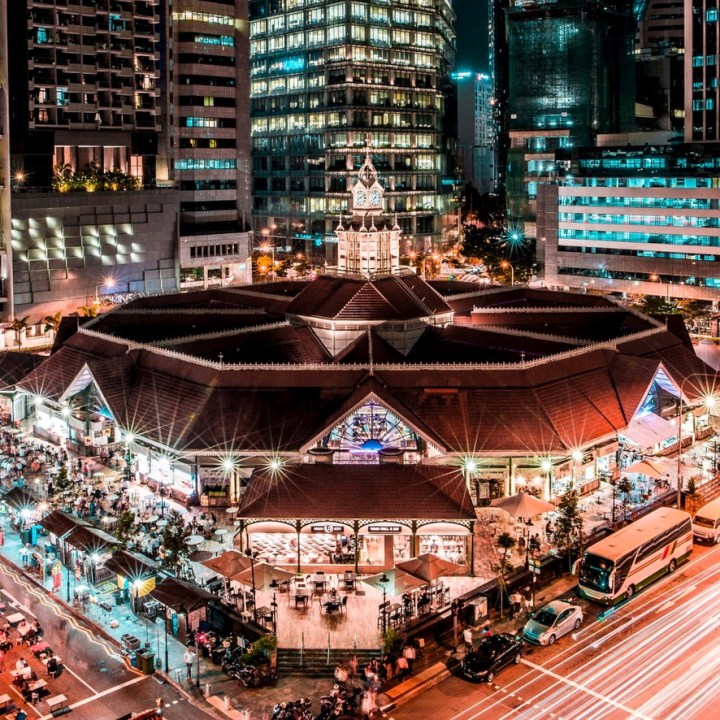 Holiday Singapore Itinerary Travel Tips Lau Pa Sat Local Hawker Food Centre Dinner
