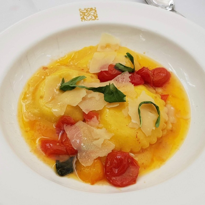 Daphne's Classic Italian Restaurant South Kensington Buffalo Mozzarella Ravioli Cherry Tomato Basil
