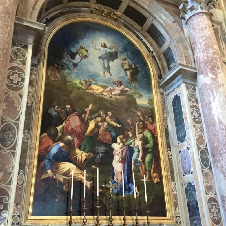 Rome Travel Itinerary Travel Tips Vatican City St Peter's Basilica Raphael Transfiguration Altar