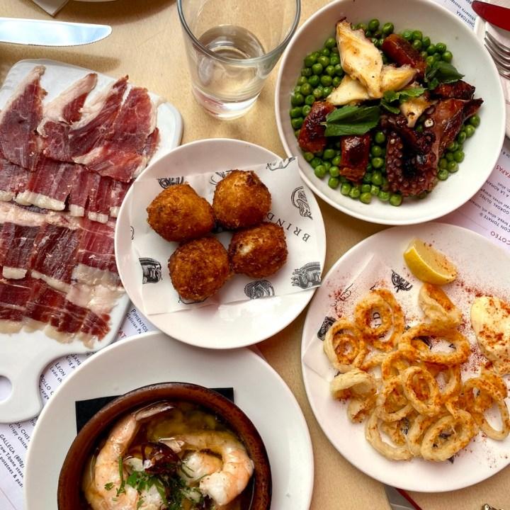 Tapas Brindisa Spanish Restaurant South Kensington Dog Friendly Al Fresco Review Squid Ring Calamari