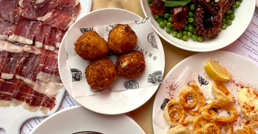 Tapas Brindisa Spanish Restaurant South Kensington Dog Friendly Al Fresco Review Squid Ring Calamari