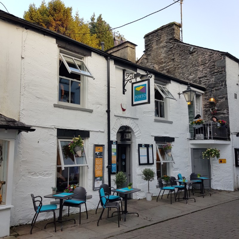 Porto Restaurant Bowness Lake Windermere District Dinner Alfresco Review