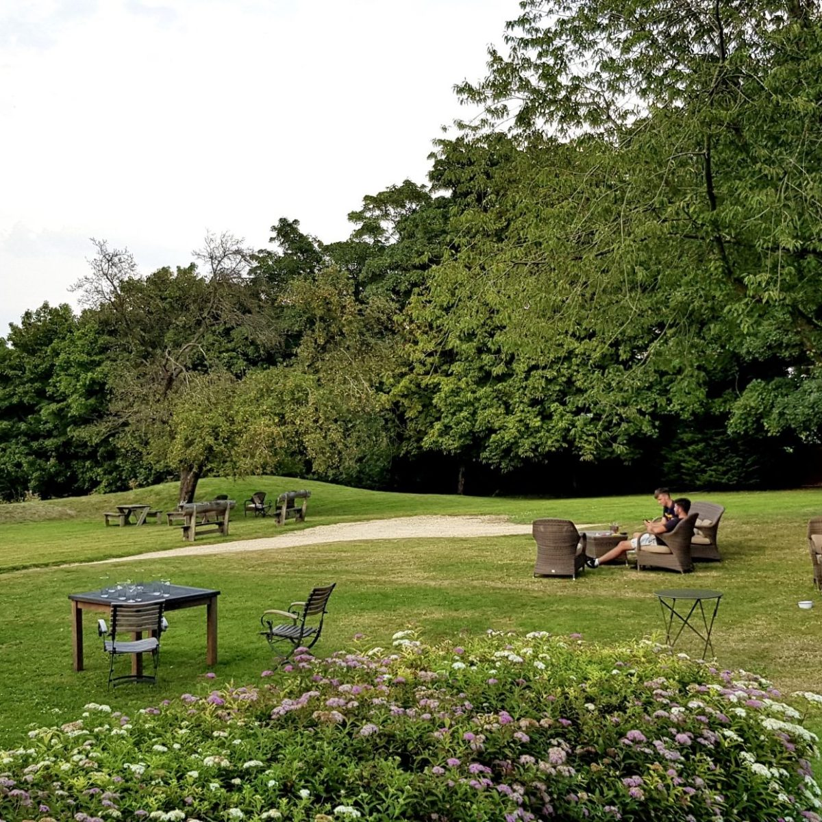 The Feathered Nest Country Inn Restaurant Pub Amazing View Cotswold Outdoor Dining Gastropub