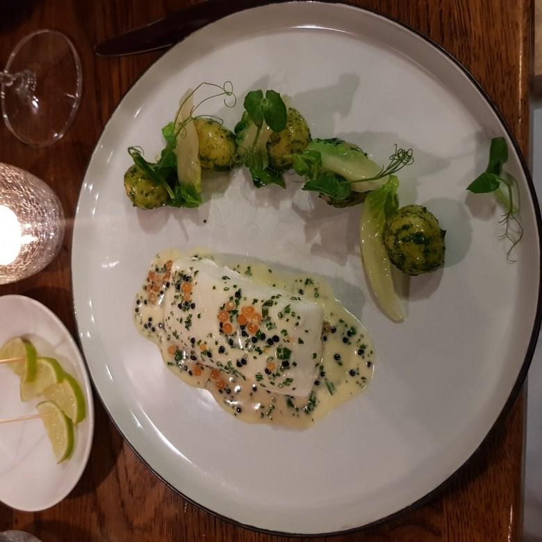 The Cross Kenilworth Michelin Star Restaurant Gastropub British Fillet Halibut