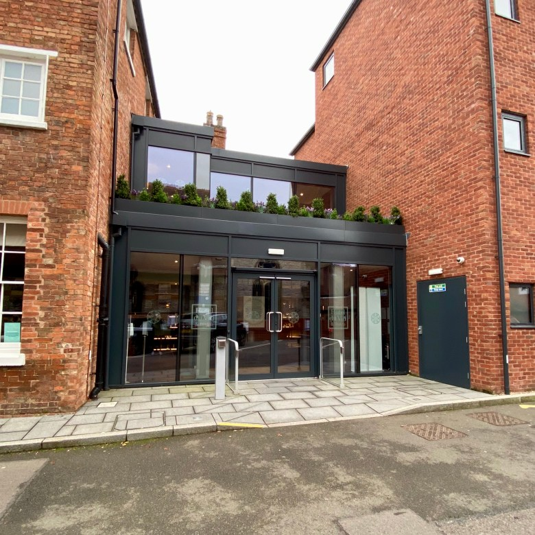 Hotel du Vin Stratford upon Avon Modern Chic Comfort Convenient Central Location Design Exterior Front Entrance Door