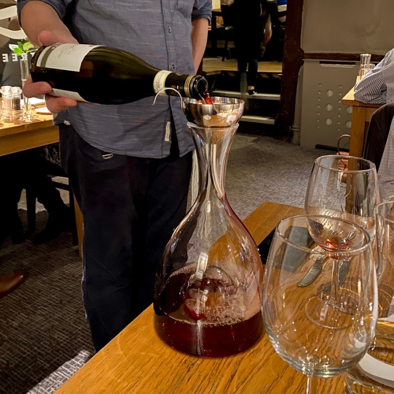 Romantic Cosy Dinning Stratford Upon Avon British Restaurant Wine Decanter
