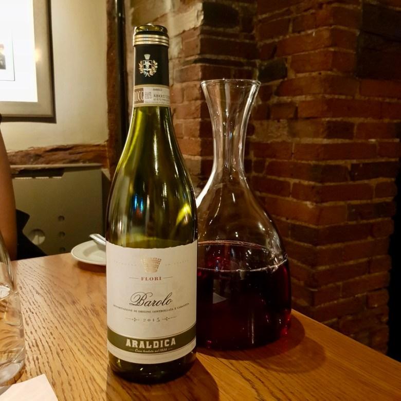 Romantic Cosy Dinning Stratford Upon Avon British Restaurant Araldica Flori Barolo