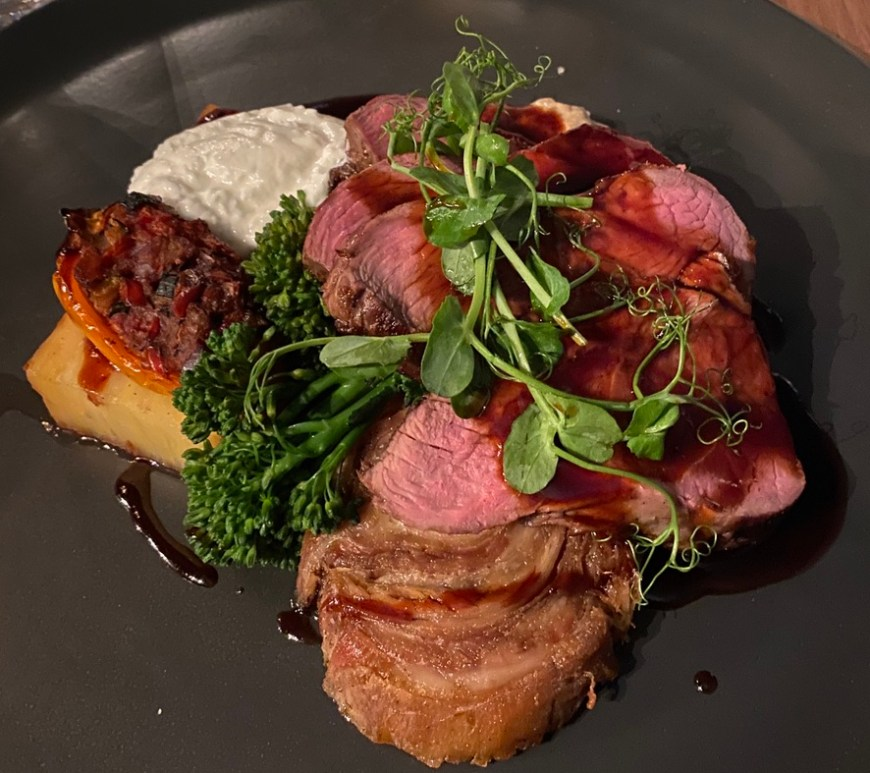 Loxleys Restaurant Wine Bar Stratford Upon Avon Classy Romantic Top Dinner Roast Rump of Lamb