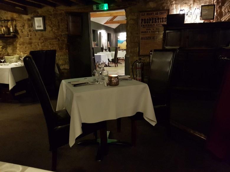 Nut Tree Inn Murcott Oxon Michelin Star Gastropub pub British Best Cuisine Romantic Beer Garden Outdoor Terrace Alfresco dining Tasting Menu Wine Seasonal Produce Creative Michael North Imogen Great Service Log Fire