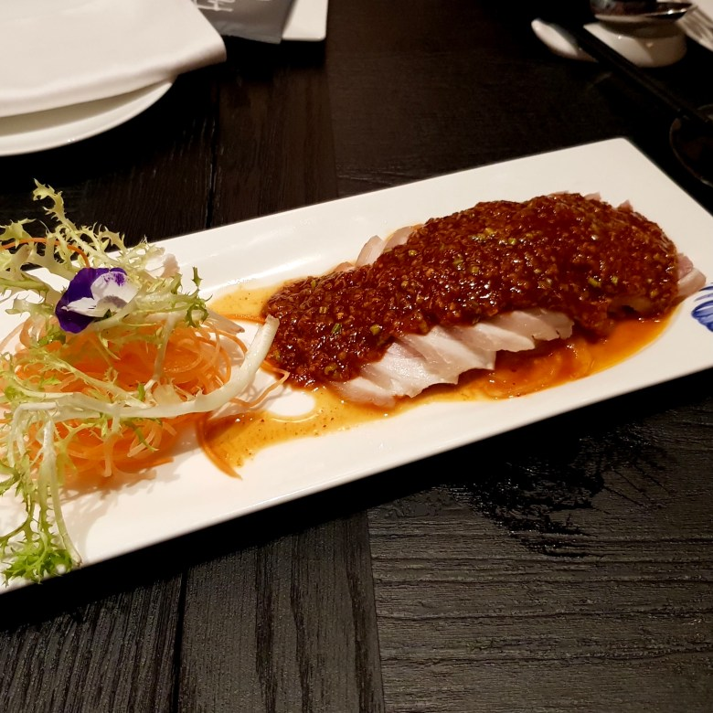 Imperial Treasure London Waterloo Place Chinese Restaurant Michelin High End St James Mayfair Cantonese Expensive Luxury Dining Jelly Fish Marinated Chicken