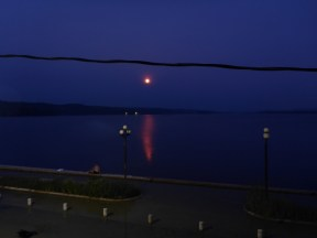 The blood moon, great view from our balcony