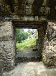 Ruins through the ruined doorway