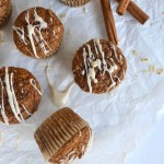 Gingerbread muffins on parchement paper