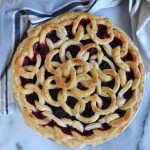 Overhead view of a pie