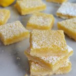 stack of lemon bars