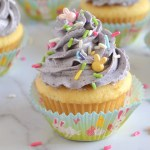 Up close shot of cupcake