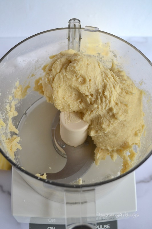 Easy and fast soft drop sugar cookie dough in a food processor