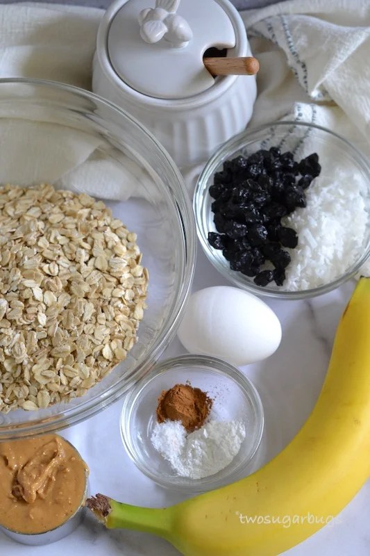 Healthy breakfast cookie ingredients