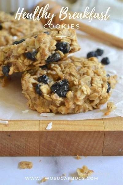 Pinterest graphic for healthy breakfast cookies