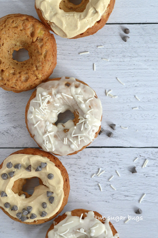 five donuts on shiplap