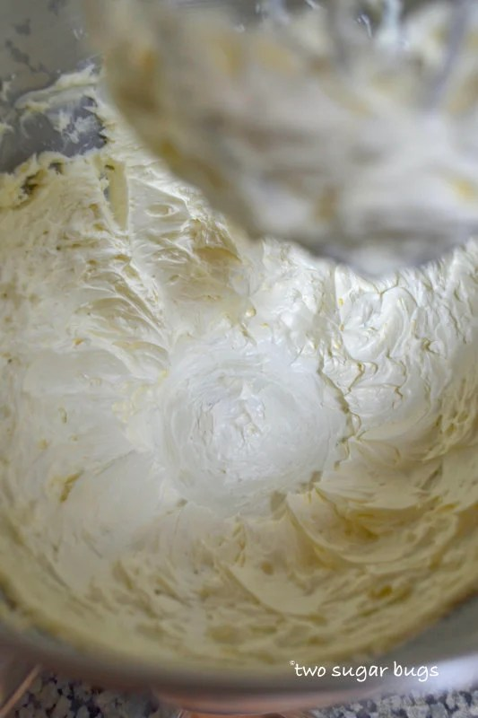 pale whipped butter in a mixing bowl