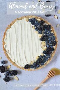 Pinterest graphic for mascarpone tart
