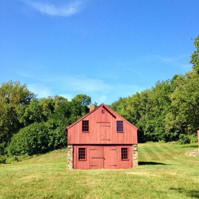 This red Pennsylvania barn was part of a farm started around the end of the 17th century.