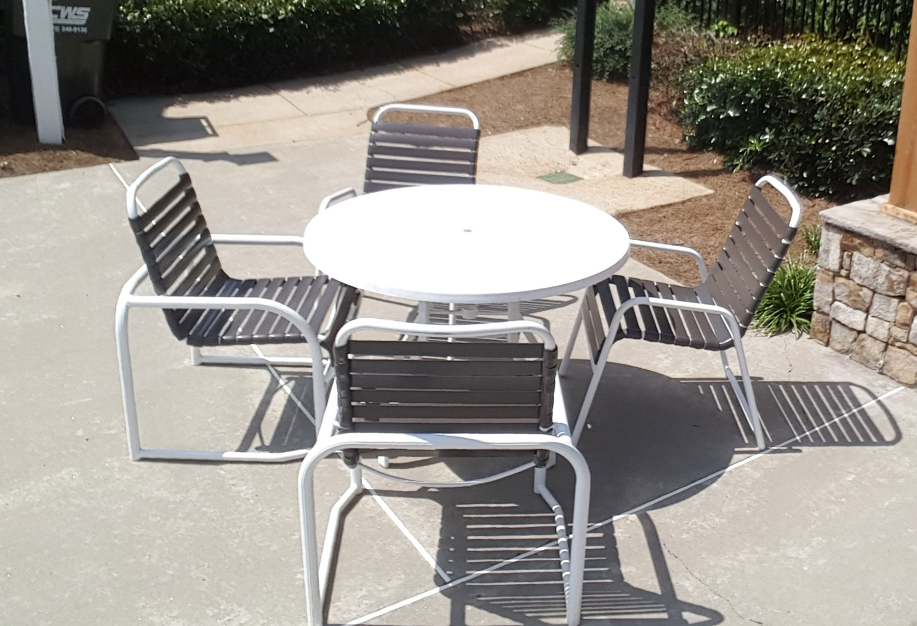 restrapping patio furniture chairs