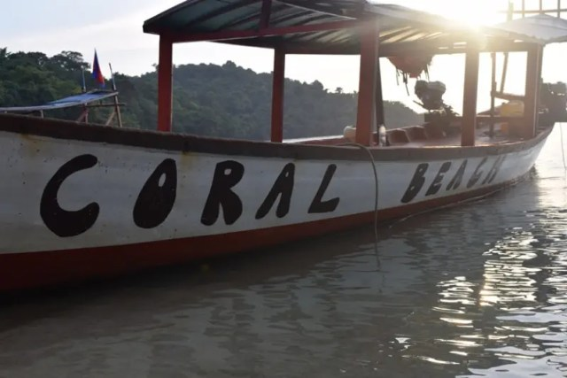 Coral Beach's own boat for bringing people to and from the island