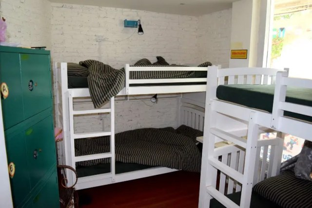 Bunkbeds at Scoozi Hostel