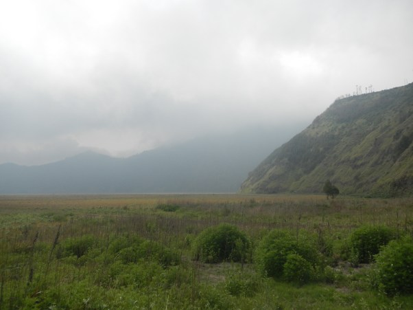 The lip of the Tengger crater as we headed to Bromo