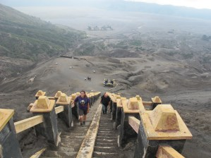 The staircase to Bromo