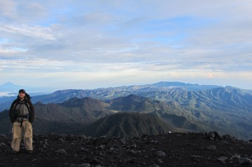 Tengger crater and Bromo in the far distance