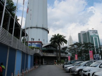 Base of the Communications Tower with the Petronas Towers in the background