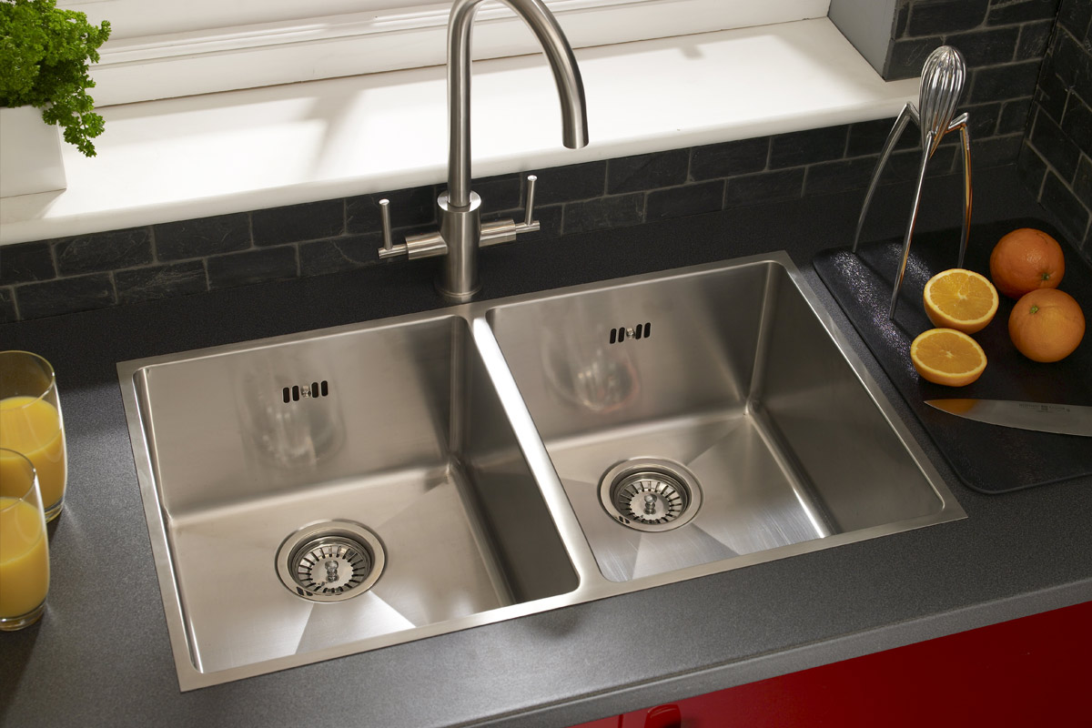 Double Stainless Steel Inset Sink