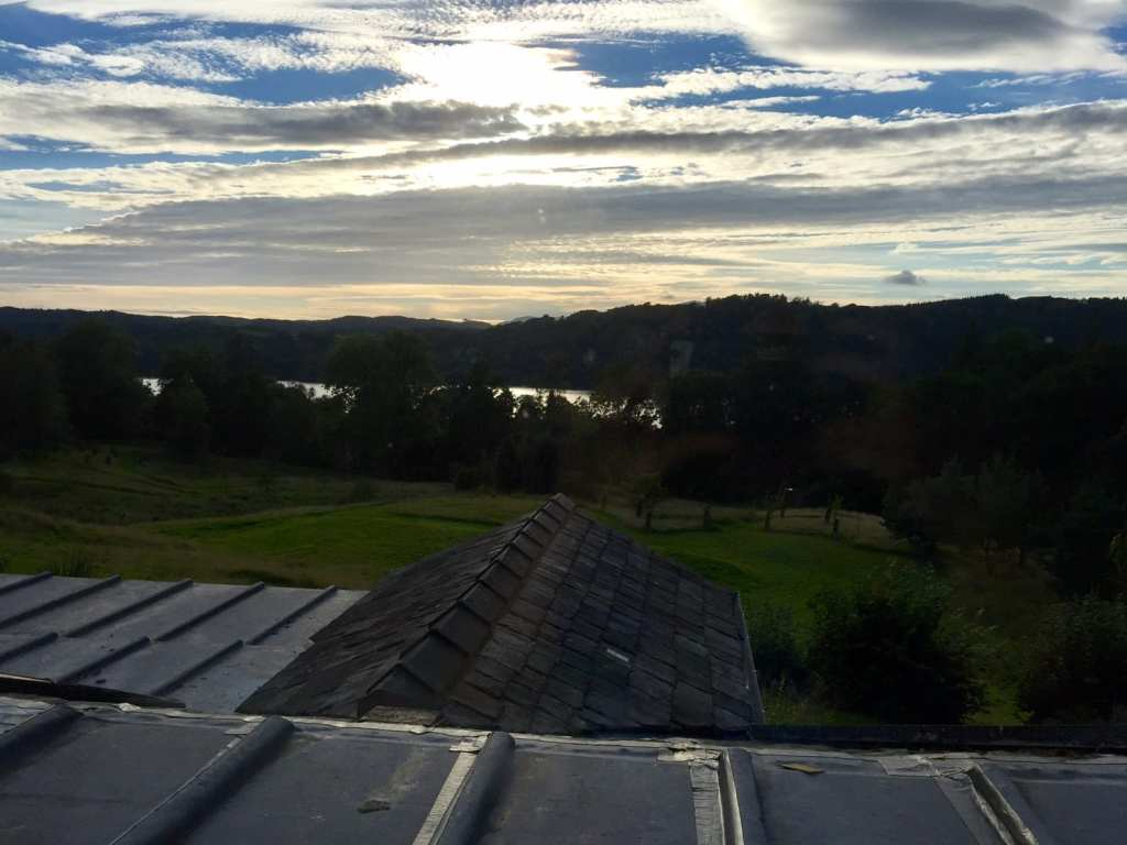 """The view from our room at the Ryebeck just as the sun was starting to set. - """"An Introduction to England's Lake District"""" - Two Traveling Texans"""