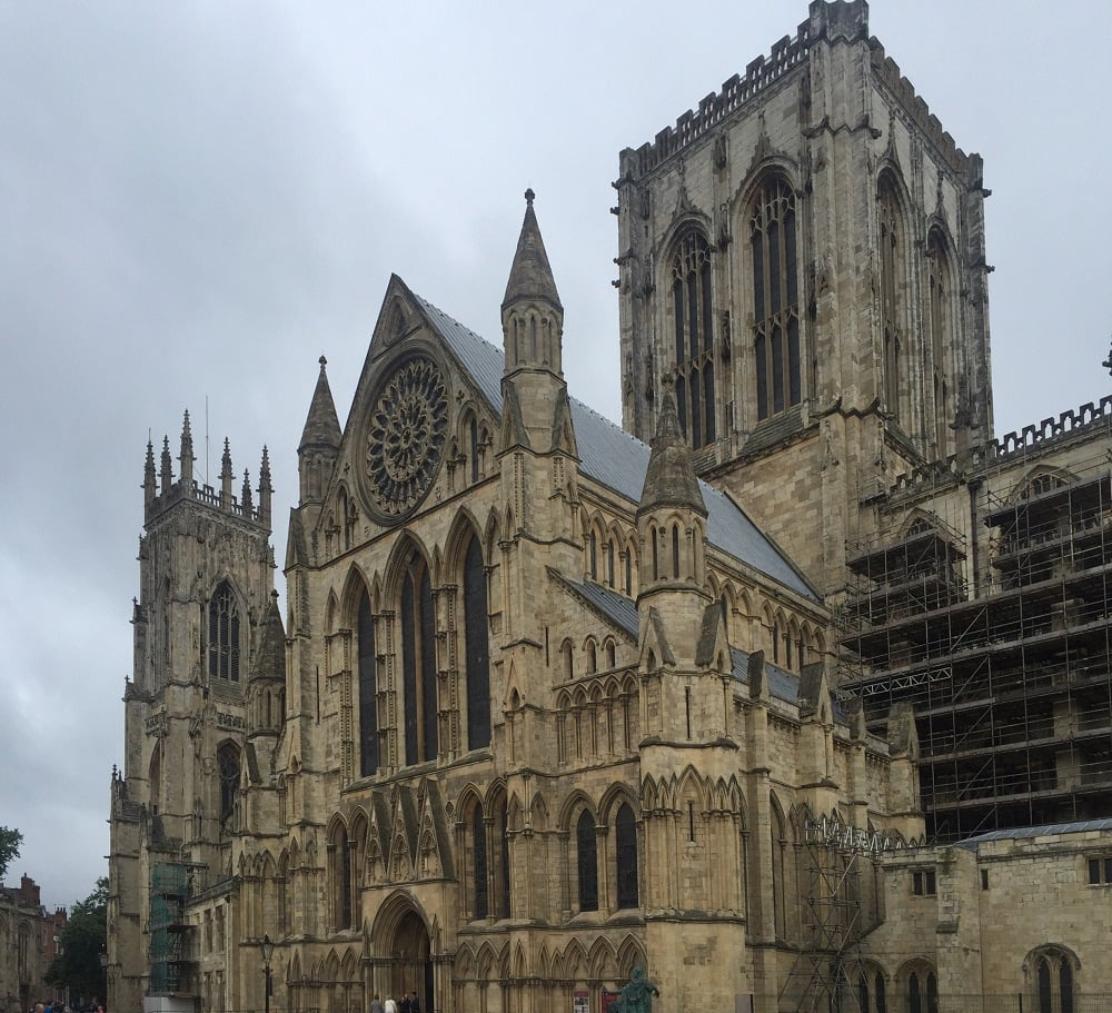 "York Minster is pretty much impossible to fit all in one picture - it's so big! - ""York: Five Must See Historic Sites"" - Two Traveling Texans"