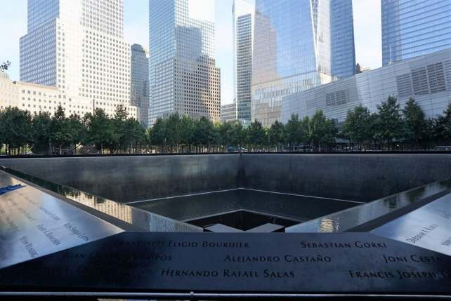"""The 9/11 Memorial is a beautiful tribute. Here is a photo of one of the two pools that make up the 9/11 Memorial. - - """"The National September 11 Memorial & Museum: A Moving Experience"""" - Two Traveling Texans"""