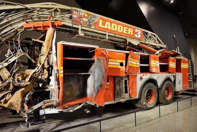 Fire Truck that was just destroyed on 9/11.