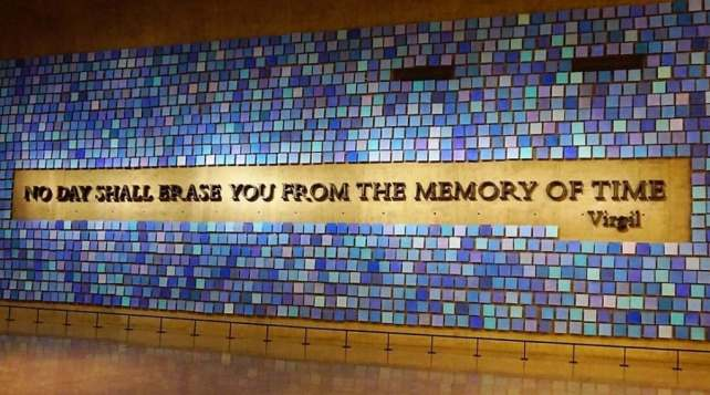 """I thought this quote was perfect for the museum. - - """"The National September 11 Memorial & Museum: A Moving Experience"""" - Two Traveling Texans"""