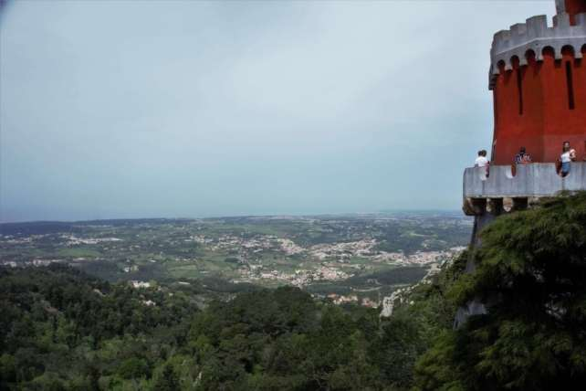 """From Pena Palace, you have a great view of the Sintra Hills. - - """"Pena Palace: Sintra's Fairytale Castle"""" - Two Traveling Texans"""