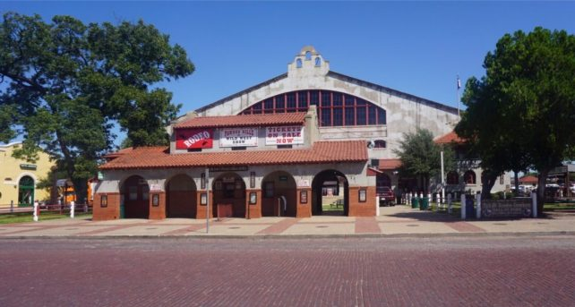 """Cowtown Coliseum, where the first indoor rodeo was held. - """"Fort Worth Stockyards: Learn About the Old West"""" - Two Traveling Texans"""