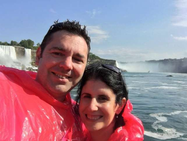 """At the end of our boat ride, we were wet even with the ponchos! - - """"Hornblower Niagara Cruises Vs Maid of the Mist"""" - Two Traveling Texans"""