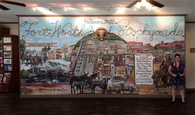 """Anisa inside the Visitors Center. - """"Fort Worth Stockyards: Learn About the Old West"""" - Two Traveling Texans"""