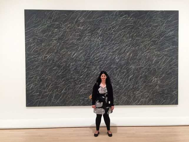 """Anisa with Cy Twombly's Untitled - """"SFMOMA: Modern Art in a New Setting"""" - Two Traveling Texans"""