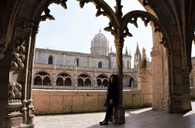 """Anisa inside Jeronimos Monastery. - """"The Best Things to Do in Belem (Lisbon)"""" - Two Traveling Texans"""