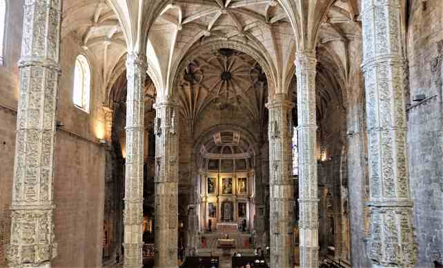 """The view from the upper choir area looking into the church. - """"The Best Things to Do in Belem (Lisbon)"""" - Two Traveling Texans"""