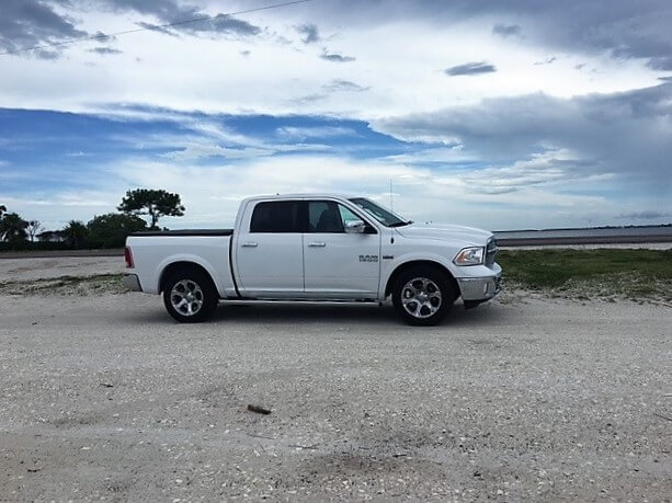 """Our rental car, not exactly the compact car we reserved, but we aren't complaining! - """"The Search for Sanibel Island Shells"""" - Two Traveling Texans"""